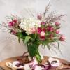 Bouquet con alegres notas de color