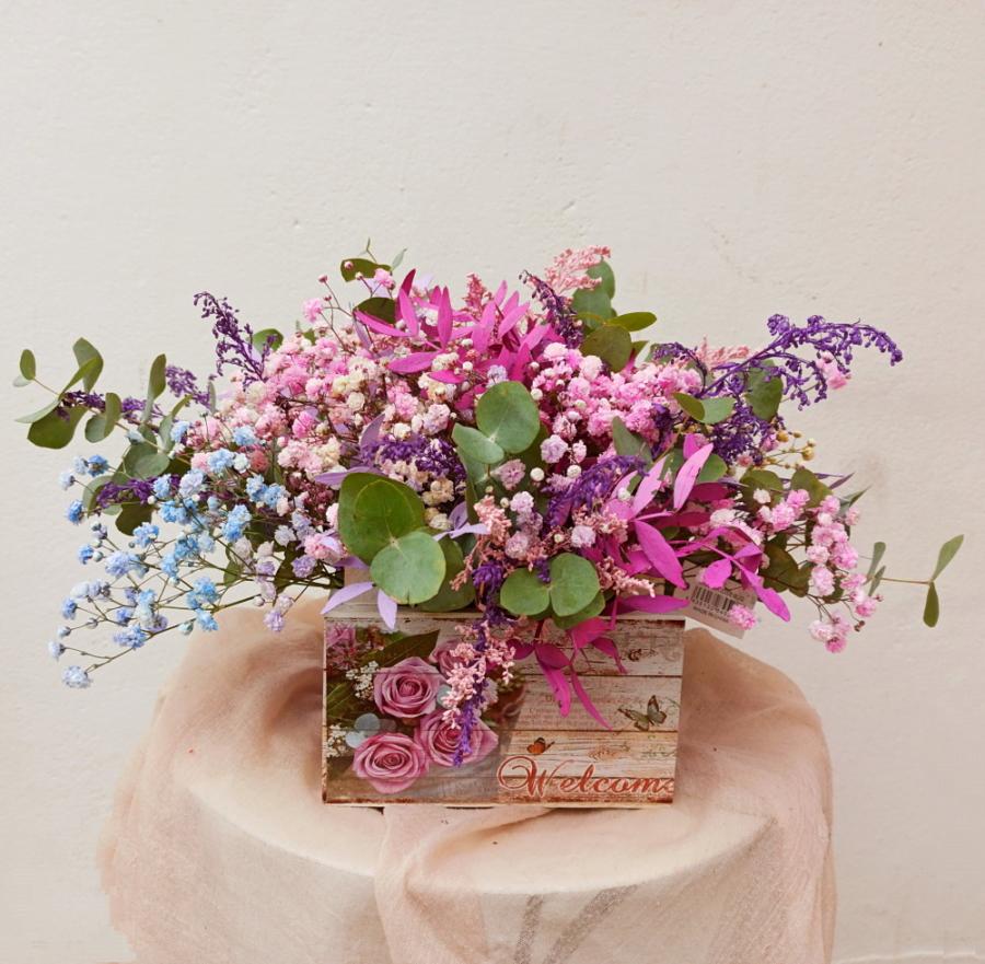 Caja flores lilac